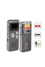 Merkloos Premium Digitale - Premium Voice Recorder - Multifunctionele Voice Recorder - Dictafoon 4 GB - Audio Memo Recorder Met USB - Spraak Recorder - Sound – Geluid Recorder - Opname Apparaat - Met MP3 Speler Functie