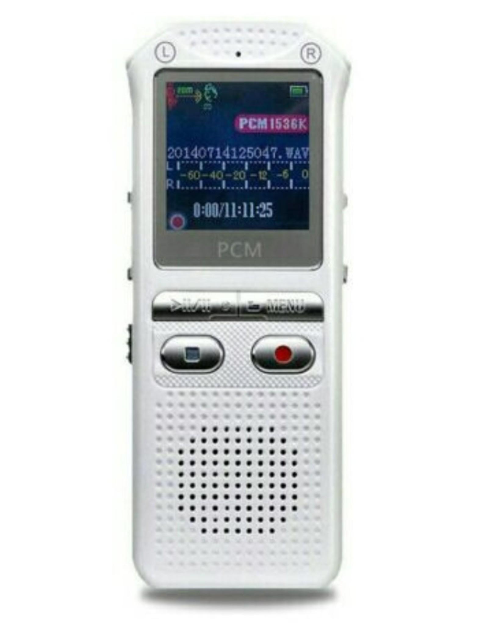 Merkloos audiorecorder 60m, spraakrecorder 16GB, tijdstempel + spraakgestuurd + wachtwoord digitale recorder