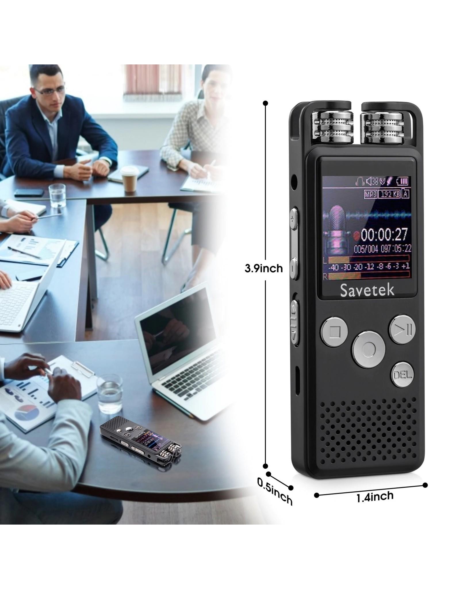 Professionele Voice - Activated Digital Audio Voice Recorder 4GB - Tijdregistratie Wachtwoordbeveiliging