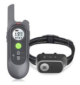 Trainingshalsband voor honden met spraakopdracht, zoemer, vibratie- en vibratiemodus, oplaadbare waterdichte schokabsorberende halsband voor honden, met afstandsbediening van 300meter bereik