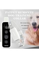PATPET Blafhalsband voor hondentraining met afstandsbediening - Bereik 300 m - Geluid, trillingen en schokken