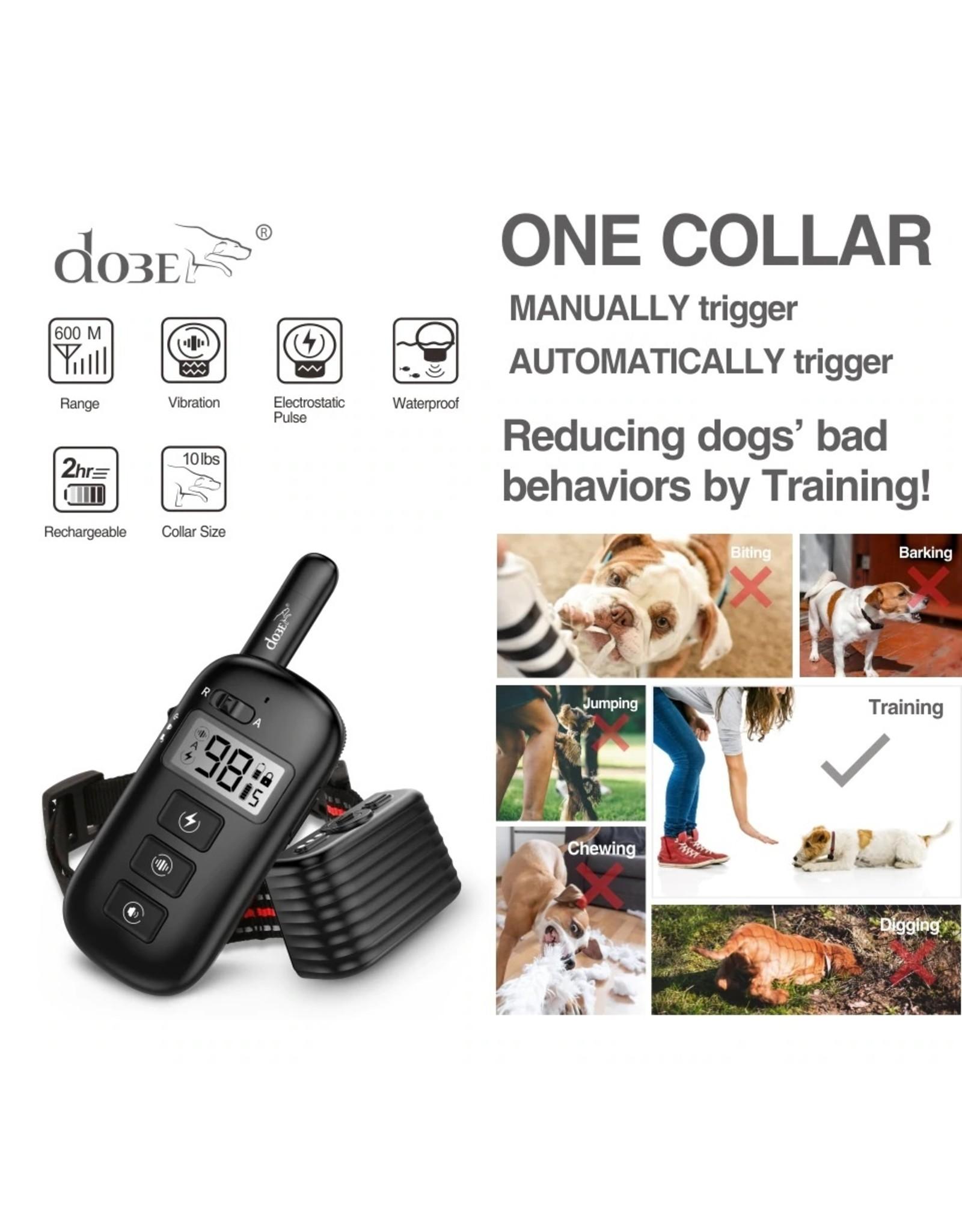 Oplaadbare elektrische halsband - Op afstand bedienbare halsband voor hondentraining - 600M Waterdichte halsband voor honden met afstandsbediening voor 1 hond