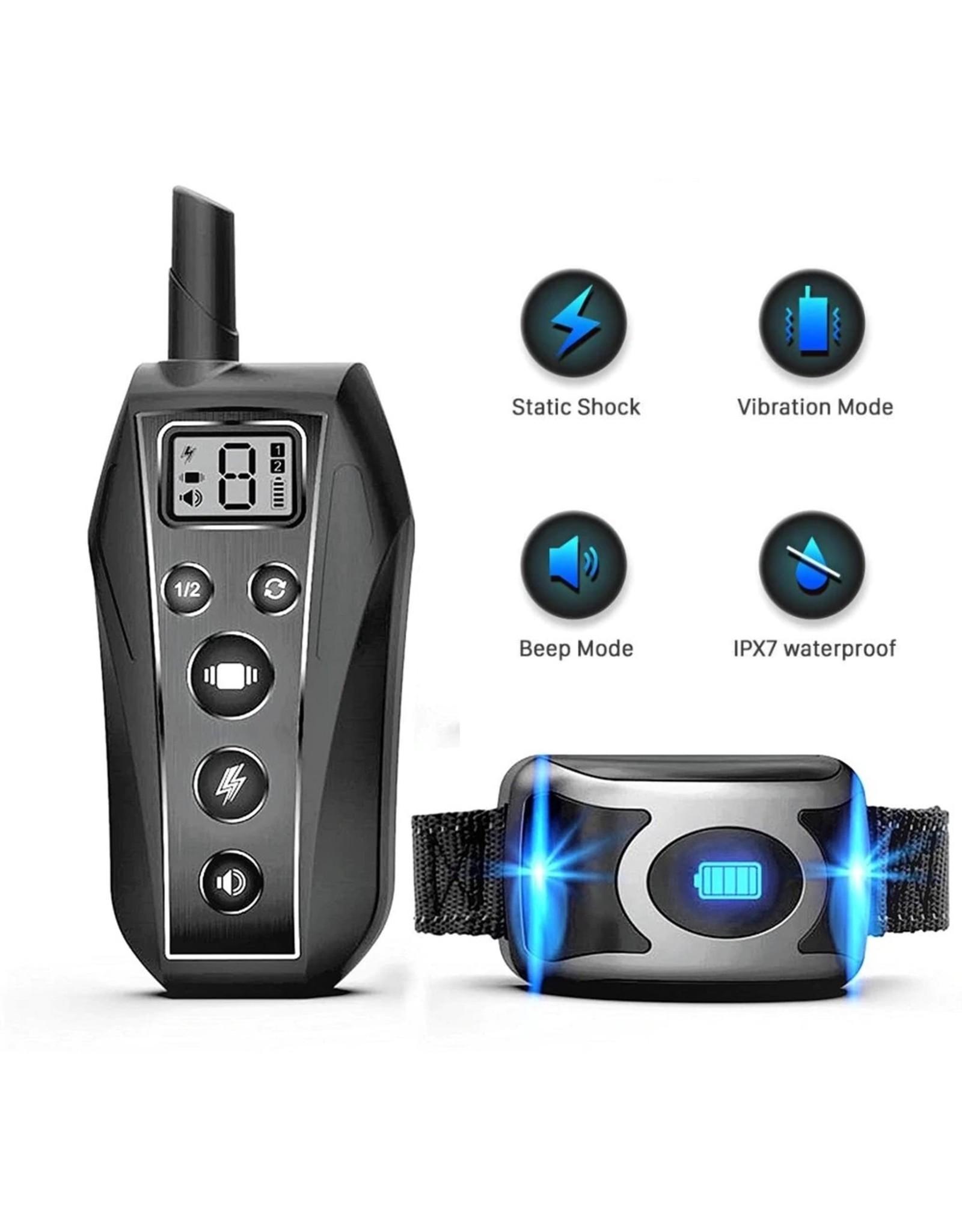 IPX7 waterdichte trainingshalsband voor huisdieren met afstandsbediening voor een hond