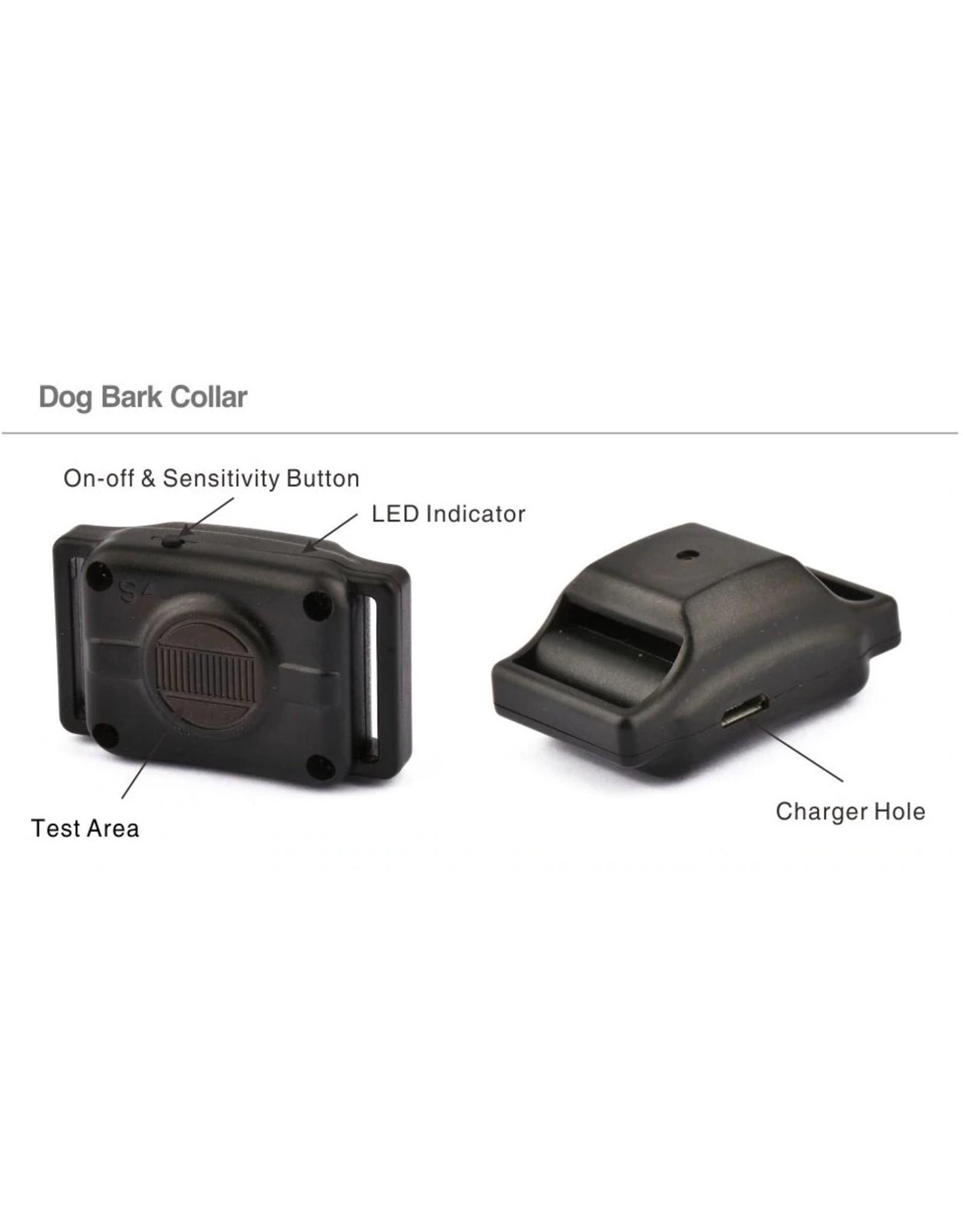 Hondenschorshalsband Huisdierproduct Blafstop Automatische Anti-blafcontrolehalsband Elektrisch Geen schokken Hond Puppy Training Ketting (deze hondenschorshalsband is klein en licht, ontwerp voor puppyhonden)
