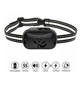 Merkloos Automatische trainingshalsband tegen blaffen Piep / schokken / trillingen – Anti-blafband - Oplaadbaar zonder afstandsbediening