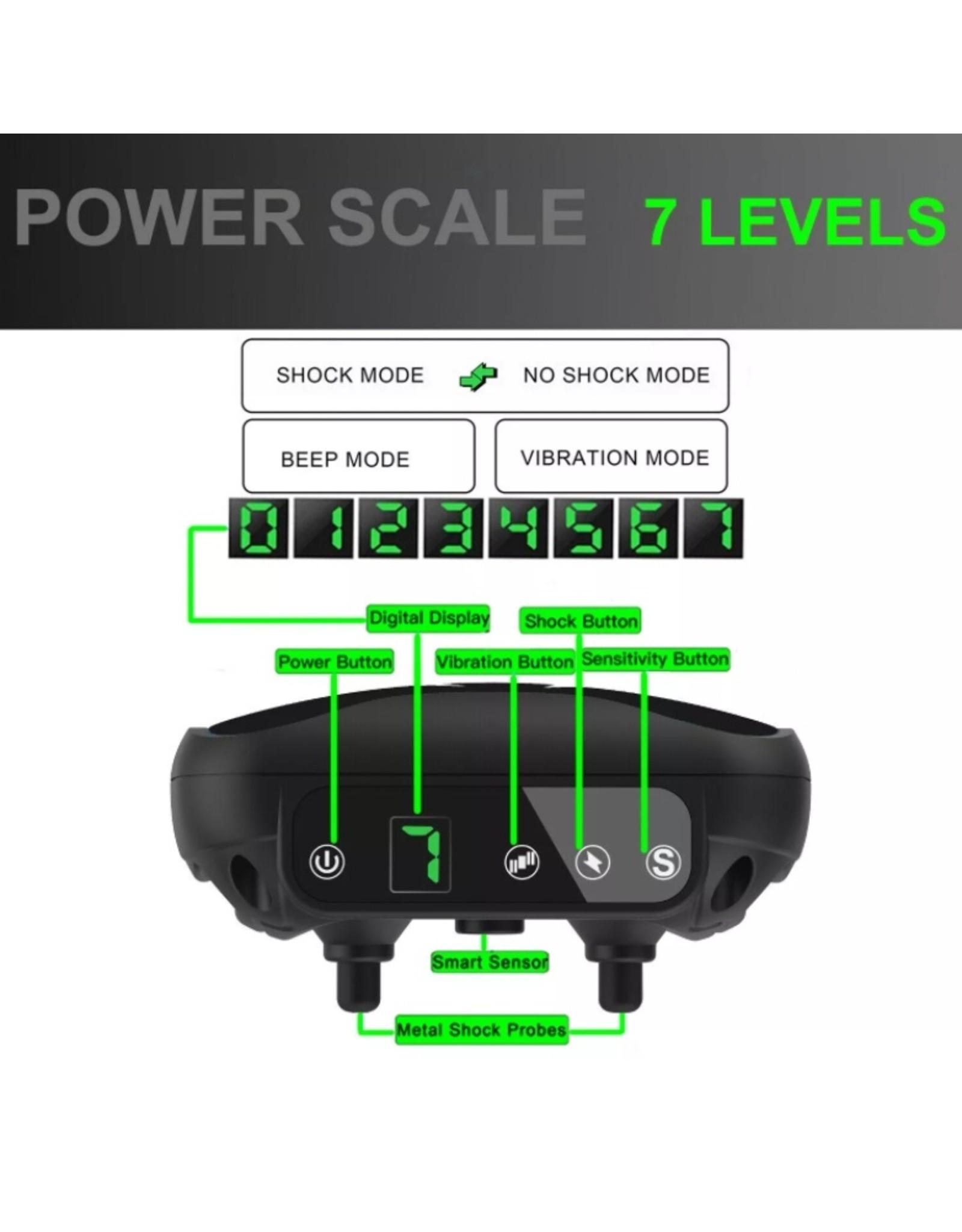Automatische trainingshalsband tegen blaffen Piep / schokken / trillingen – Anti-blafband - Oplaadbaar zonder afstandsbediening