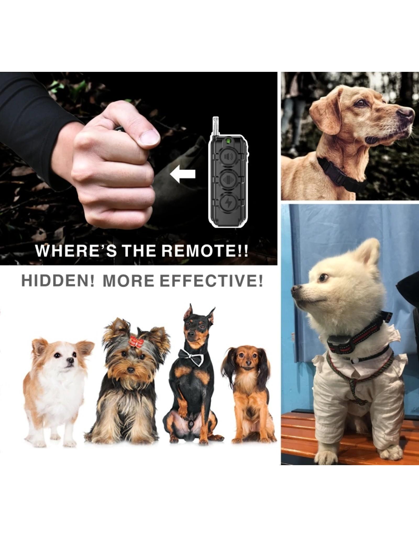 Merkloos Anti Blaf Hond Elektrische Halsband - Puppy Kleine Hond Opleiding Halsband – Oplaadbaar – Waterdichte - Afstandsbediening 400 M