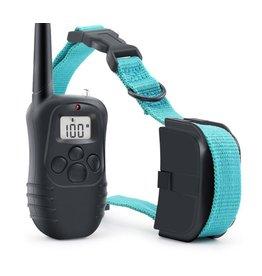 Merkloos Trainingshalsband - trainingsband voor u hond met afstandsbediening - Trainingsband 998D WT717 - 100 levels - 300 meter - Halsband 25 tot 58 cm