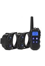 2000M hondentrainingshalsband met walkietalkie - Oplaadbare halsband voor honden - Halsband Modi Pieptoon Trillingen Schok - waterdichte trainingshalsband – Voor 2 Honden