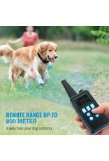 800m elektrische hondentraining halsband - LCD-scherm – afstandsbediening - waterdichte - oplaadbare schok trillingen piep anti blafband