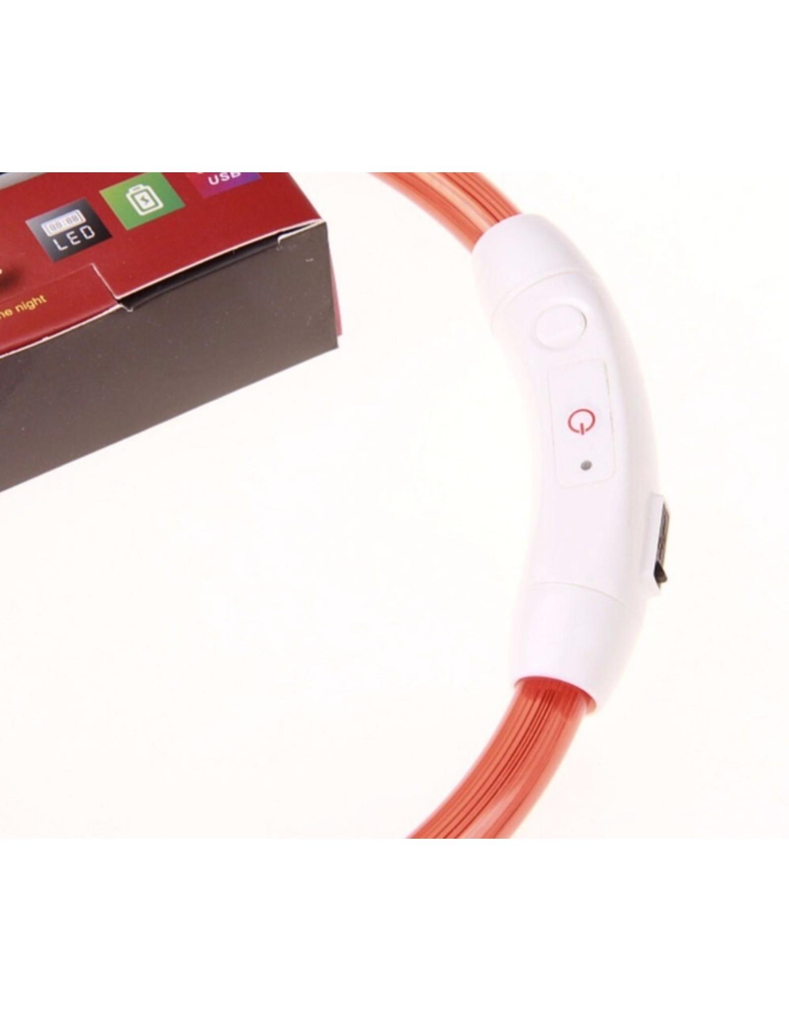 Eenvoudige USB LED Knipperlicht Band - Veiligheid - Hondenhalsband Oplaadbaar Veelkleurig