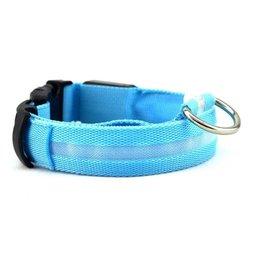 Merkloos LED HALSBAND- STANDAARD BLAUW – Halsband voor uw hond – Halsband met verlichting