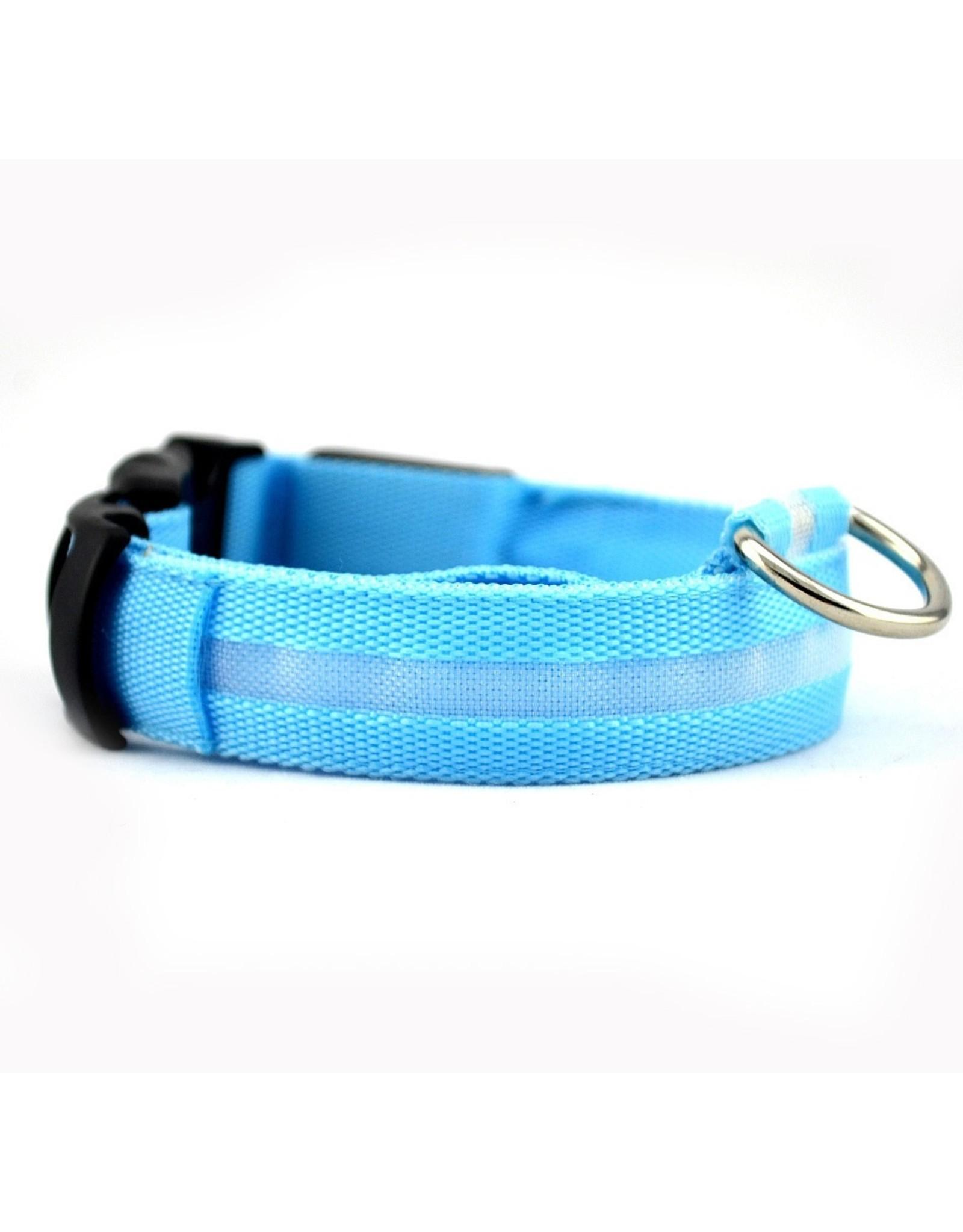 LED HALSBAND- STANDAARD BLAUW – Halsband voor uw hond – Halsband met verlichting