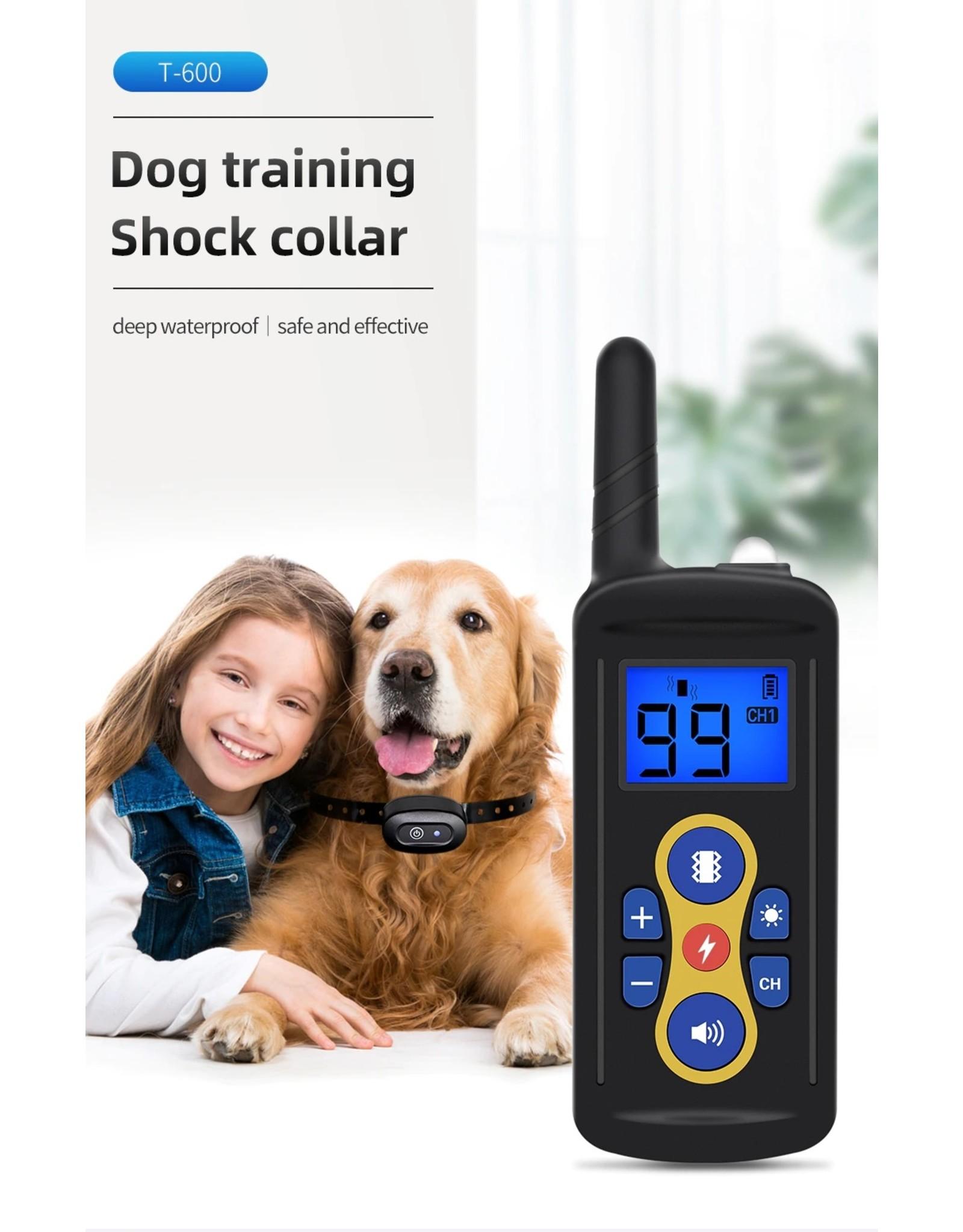 T-600 trainingshalsband op afstand – Trainen met uw hond – Trainingshalsband – Oplaadbare trainingshalsband