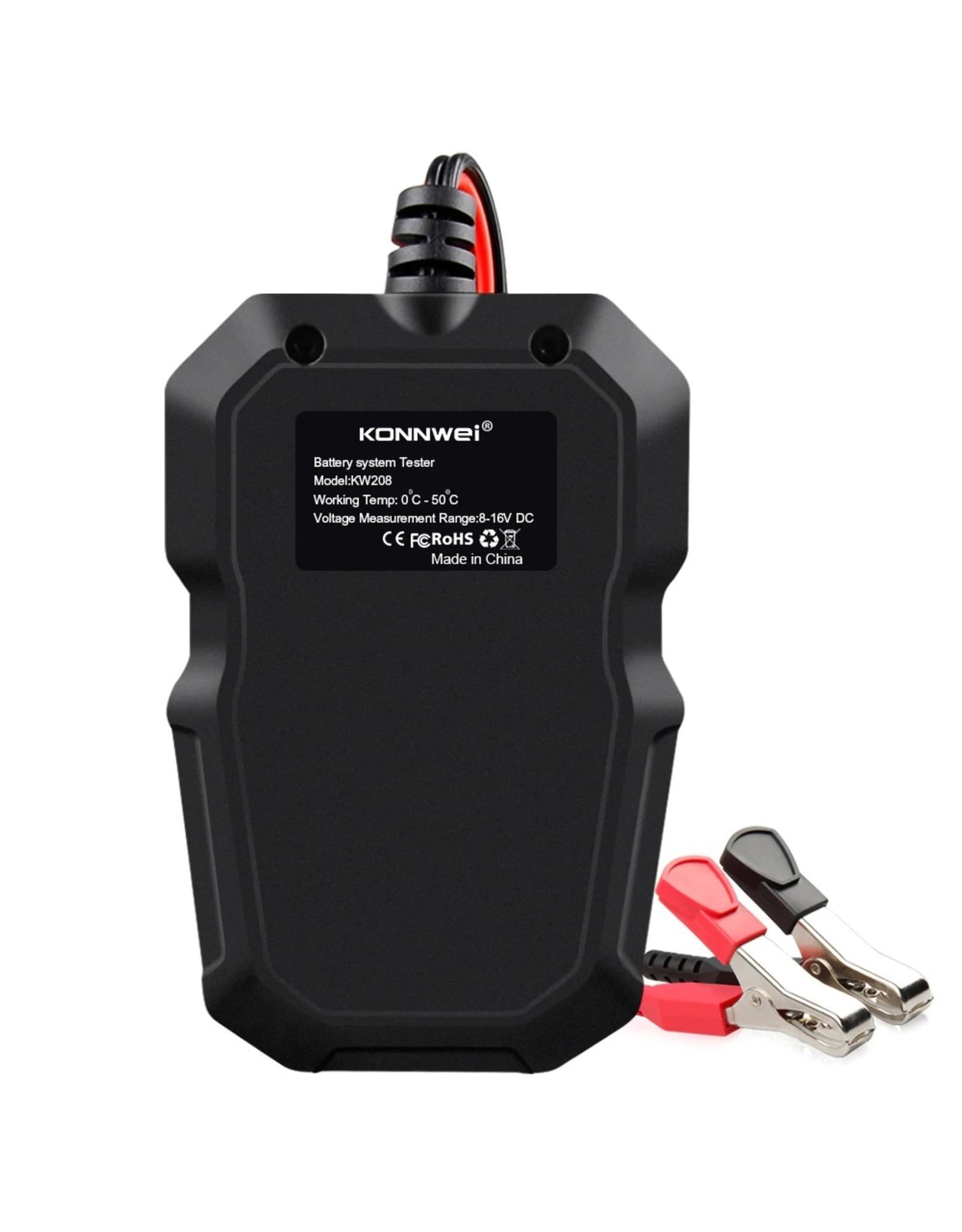 Konnwei KW208 Professionele Auto & Motor Accu Batterij tester 12V