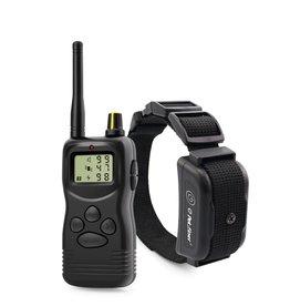 Petrainer 900B-1 Oplaadbare en waterdichte afstandsbediening 1000 m elektrische halsbanden voor hondentrillingen Tril- en elektrische schokhalsband voor honden