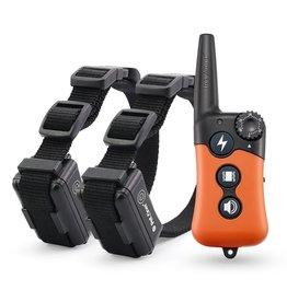 Petainer 619-2 - Trainingshalsband - Trainingsband - oplaadbaar – Stroomband – voor 2 honden