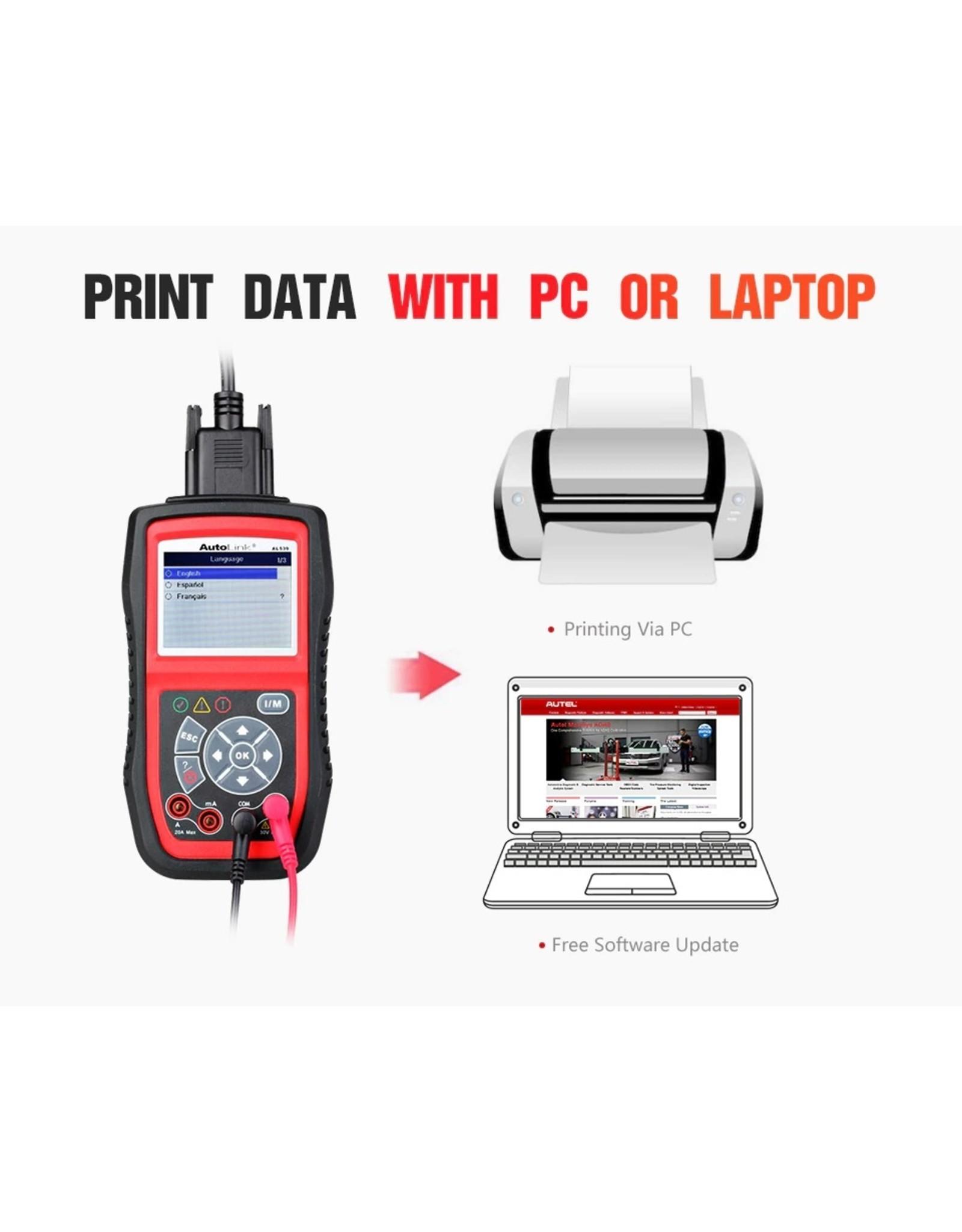 Autel AutoLink AL539 OBDII KAN Scan Tool Elektrische Test Tool Code Reader Auto Detector OBD 2 Diagnostische Scanner