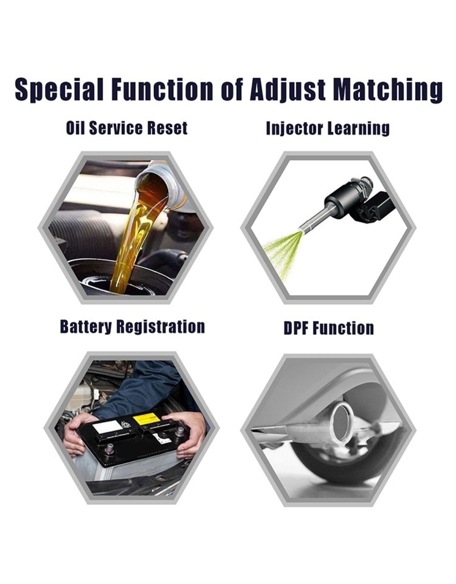 ANCEL VD700 OBD2-scanner Check Engine ABS SRS Alle systemen Diagnostisch Tool met EPB ABS DPF TPMS Oil Reset Injector Codering voor VW Audi Skoda Seat EOBD Code Reader Gratis update