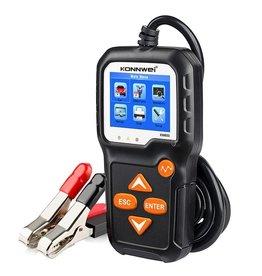 """Konnwei KW650 Motor en Autobatterij Tester met 2.4"""" LCD-Display - 6V-12V"""