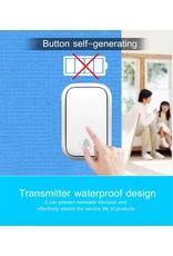 CACAZI Deurbel - Zelf aangedreven deurbel - Draadloos Geen batterij nodig Thuisoproep Deurbel