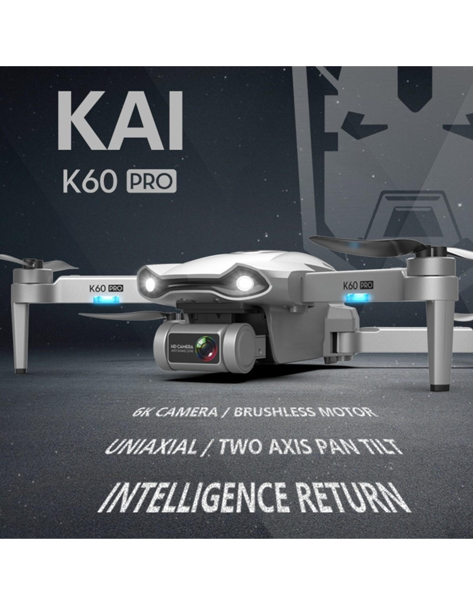 Merkloos Nieuwe K60 Drone 6k HD Dual Camera Tweeassige Gimbal 5G WIFI FPV Opvouwbare RC Quadcopter Vliegen 25 minuten Drone 4k Professionele