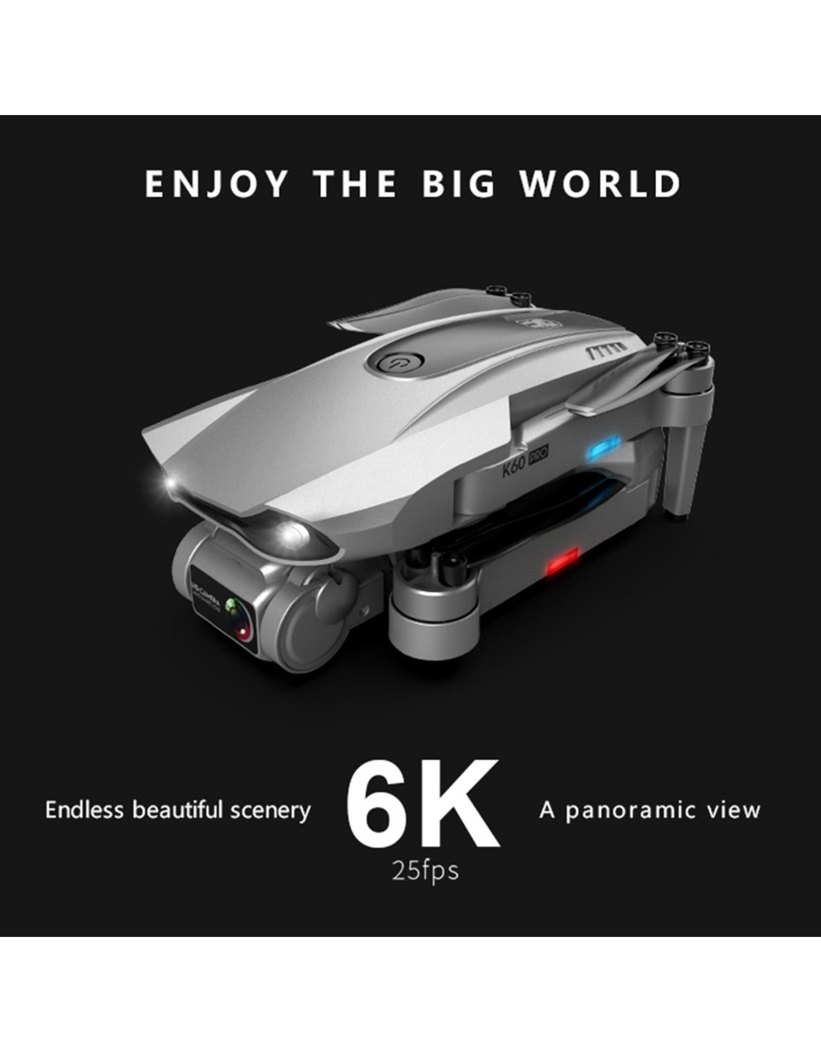 Nieuwe K60 Drone 6k HD Dual Camera Tweeassige Gimbal 5G WIFI FPV Opvouwbare RC Quadcopter Vliegen 25 minuten Drone 4k Professionele
