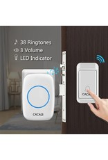 CACAZI Geen Batterij Nodig Deurbel Draadloze Waterdichte US EU UK Plug LED Self-powered Deurbel 120 M Remote Home Ring Bellen Bell