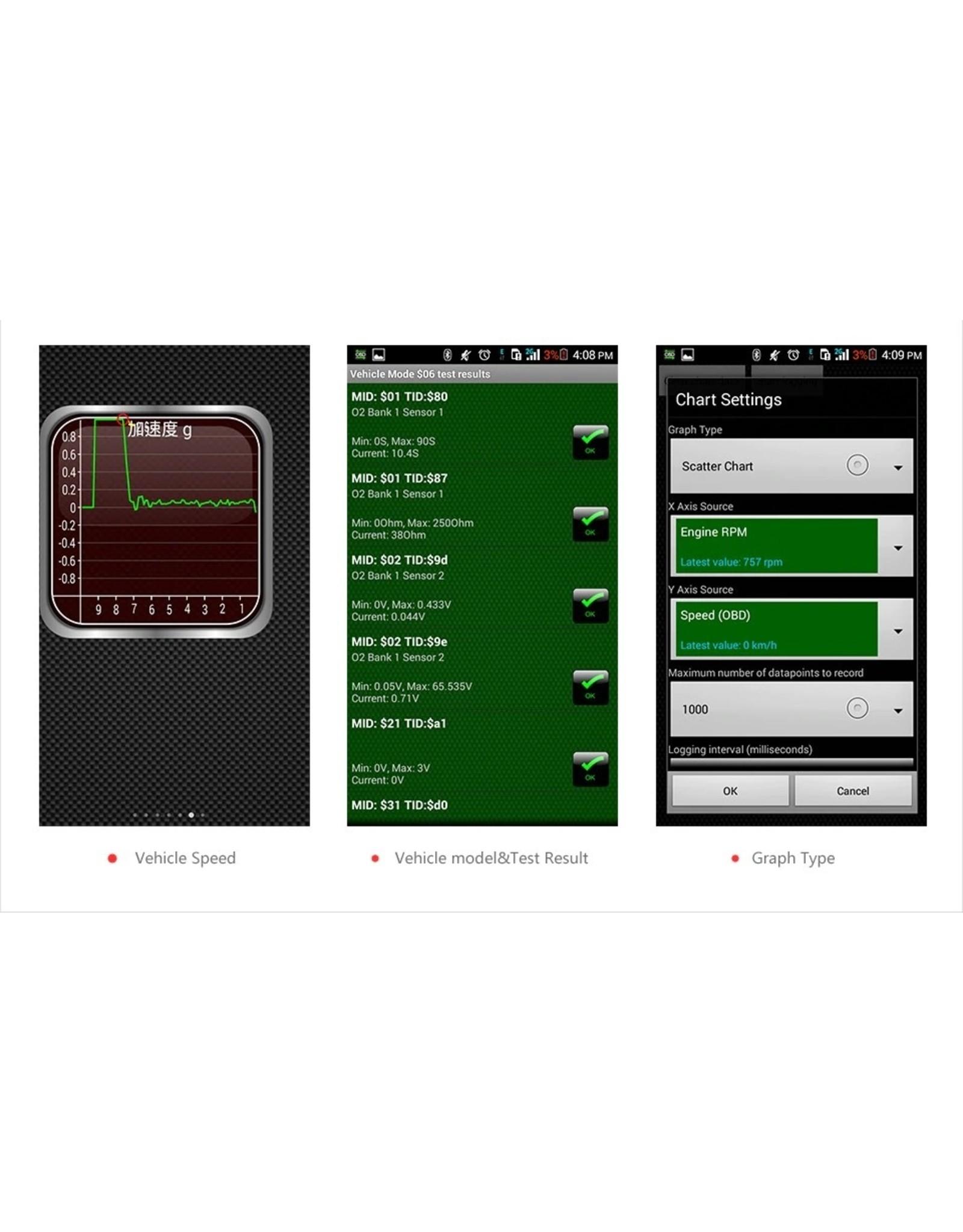 ELM327 V1.5 OBD2 Scanner PIC18F25K80 KONNWEI KW903 Bluetooth OBD 2 Diagnostisch Tool ELM 327 Code Reader Auto Scanner