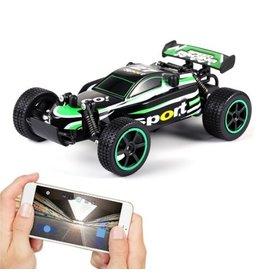 Merkloos M2014 raceauto via telefoon bediening - Afstandsbediening Racewagen 30 km/u Maximale snelheid Spraakbesturing USB Opladen Bluetooth Mobiele telefoon App RC Auto Kinder Cadeau