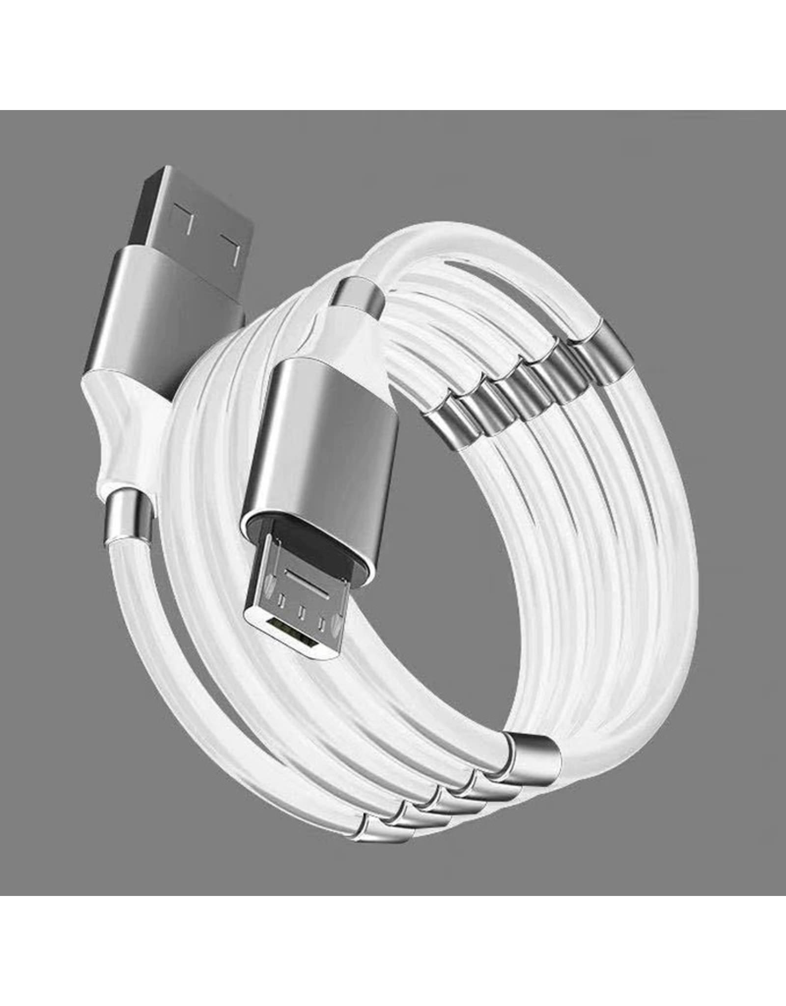 Magnetisch Touw Snel Opladen Data Sync Kabel 4A Usb-kabel  Keuze uit: Micro Type C Oplader Voor iPhone Xiaomi Huawei Samsung USB Datalijn