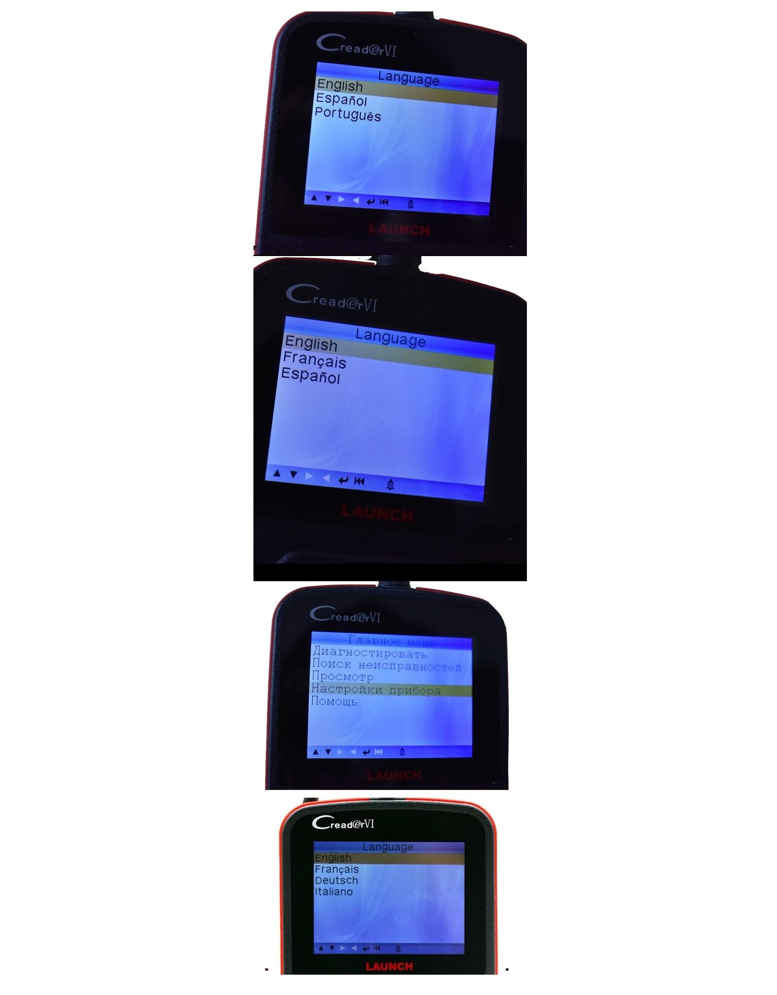 Creader VI  Code Scanner Creader 6  OBD2 OBDII Port Fault Code Reader Multi-language Update Online Diagnostic Tool
