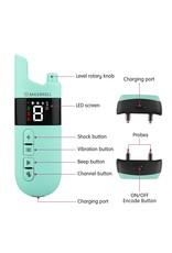Trainingshalsband Elektrische Schok Trillingen Geluid voor uw Huisdier - Blaffen 3 Modus - Afstandsbediening met Oplaadbare Waterdichte Ontvanger en 300 Meter Bereik