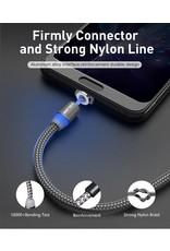 Magnetische Oplaadkabel - Magneet met iPhone adapter - 360 graden – Laadkabel draaibaar  Product Beschrijving: - Magnetische ontwerp Je ervaart de beste manier om uw telefoon op te laden - LED Indicator Ingebouwde Blauwe LED indicator verlicht wanneer de