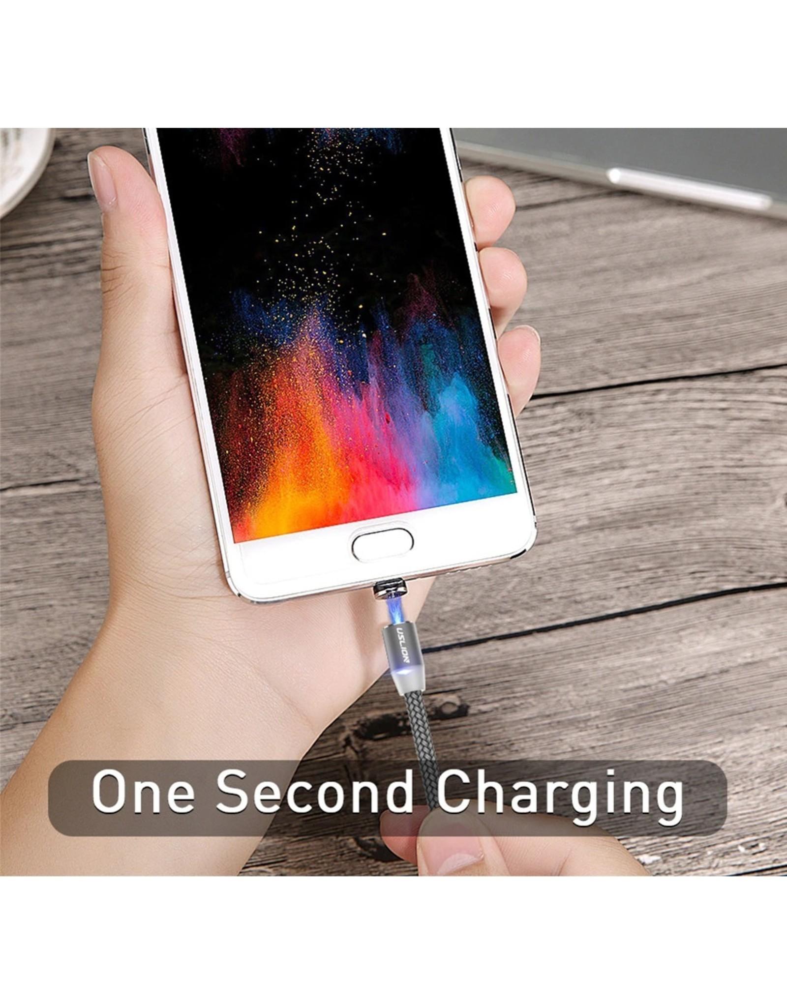 Magnetische Oplaadkabel - Magneet met iPhone adapter - 360 graden – Laadkabel draaibaar – Voor iPhone