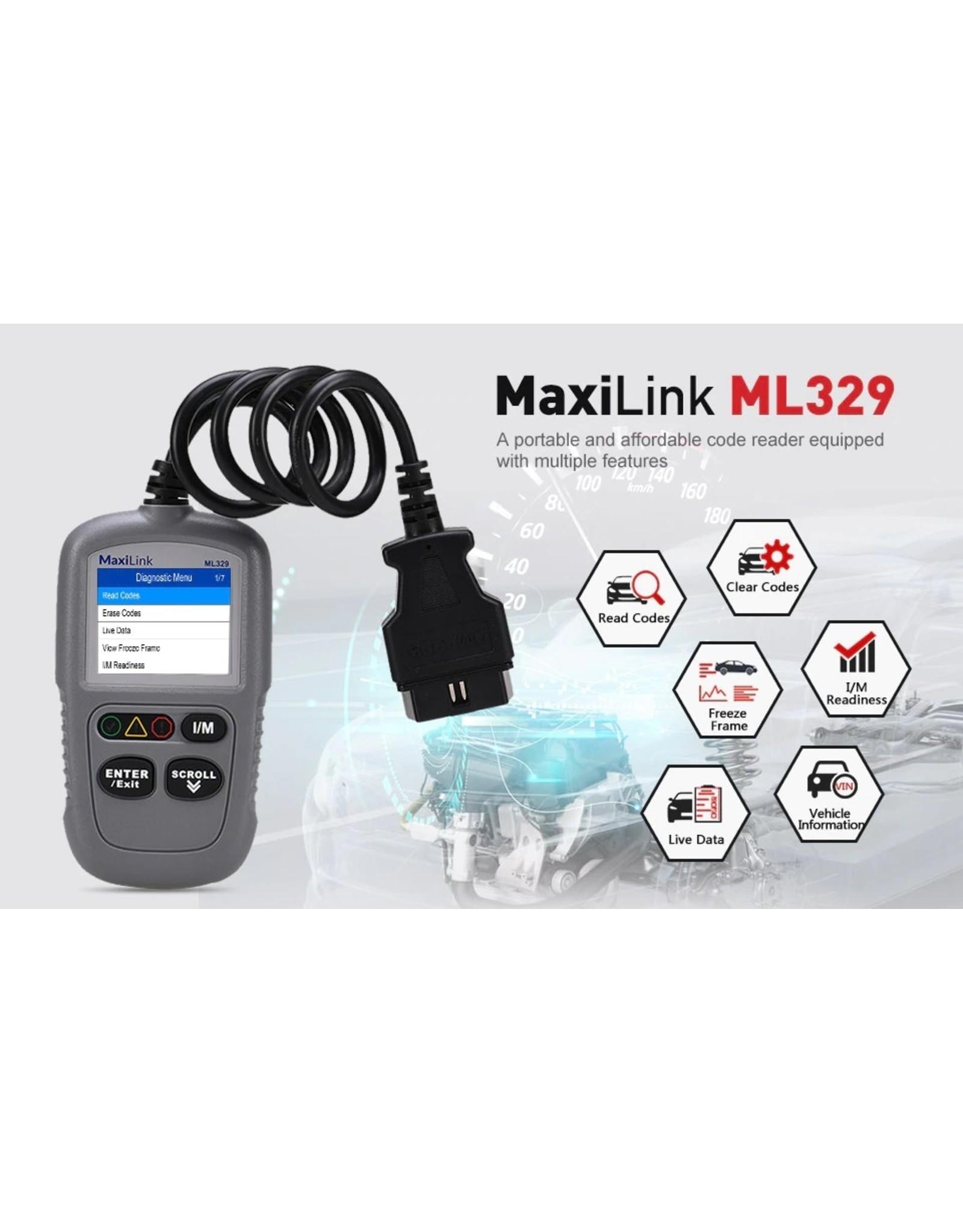 Autel MaxiLink ML329 Code Reader Een Klik I/M Readiness Professionele Scanner Sleutel AutoVIN Functie OBDII Auto Diagnostische hulpmiddel