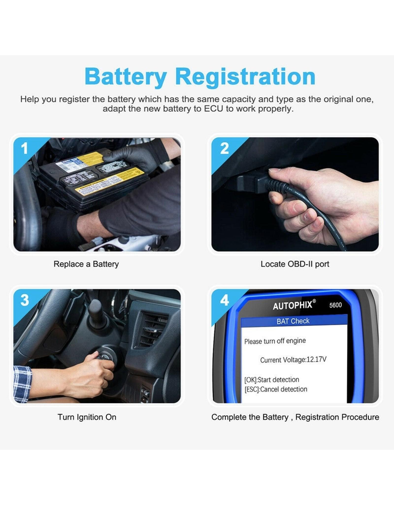 Autophix 5600 OBD2 auto scanner voor Volkswagen Audi Skoda Seat Oil Service EPB BAT BMS ETCS Reset OBDII Code Reader Check Engine Automotive Diagnostisch Tool