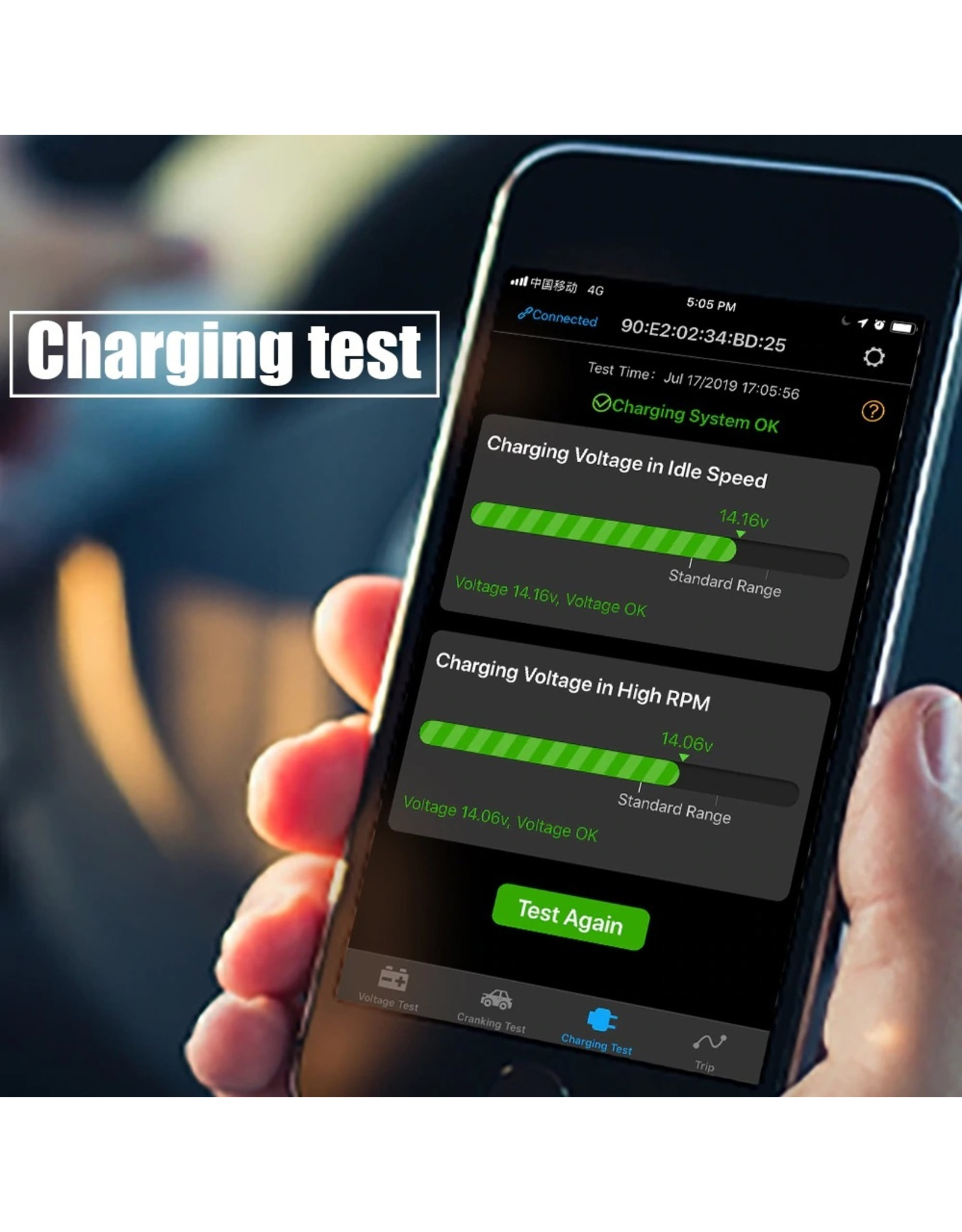 ANCEL BM300 Auto Batterij Tester Auto 12V Auto Batterij Analyzer Android IOS Circuit Elektrisch Systeem OBD2 Scanner Batterij Tester