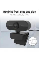 Merkloos HD 1080P Webcam Mini Computer PC WebCamera met Microfoon Draaibare camera's voor: