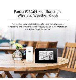 Merkloos FanJu FJ3364 Digitale wekker Weerstation Draadloze sensor Hygrometer Thermometer