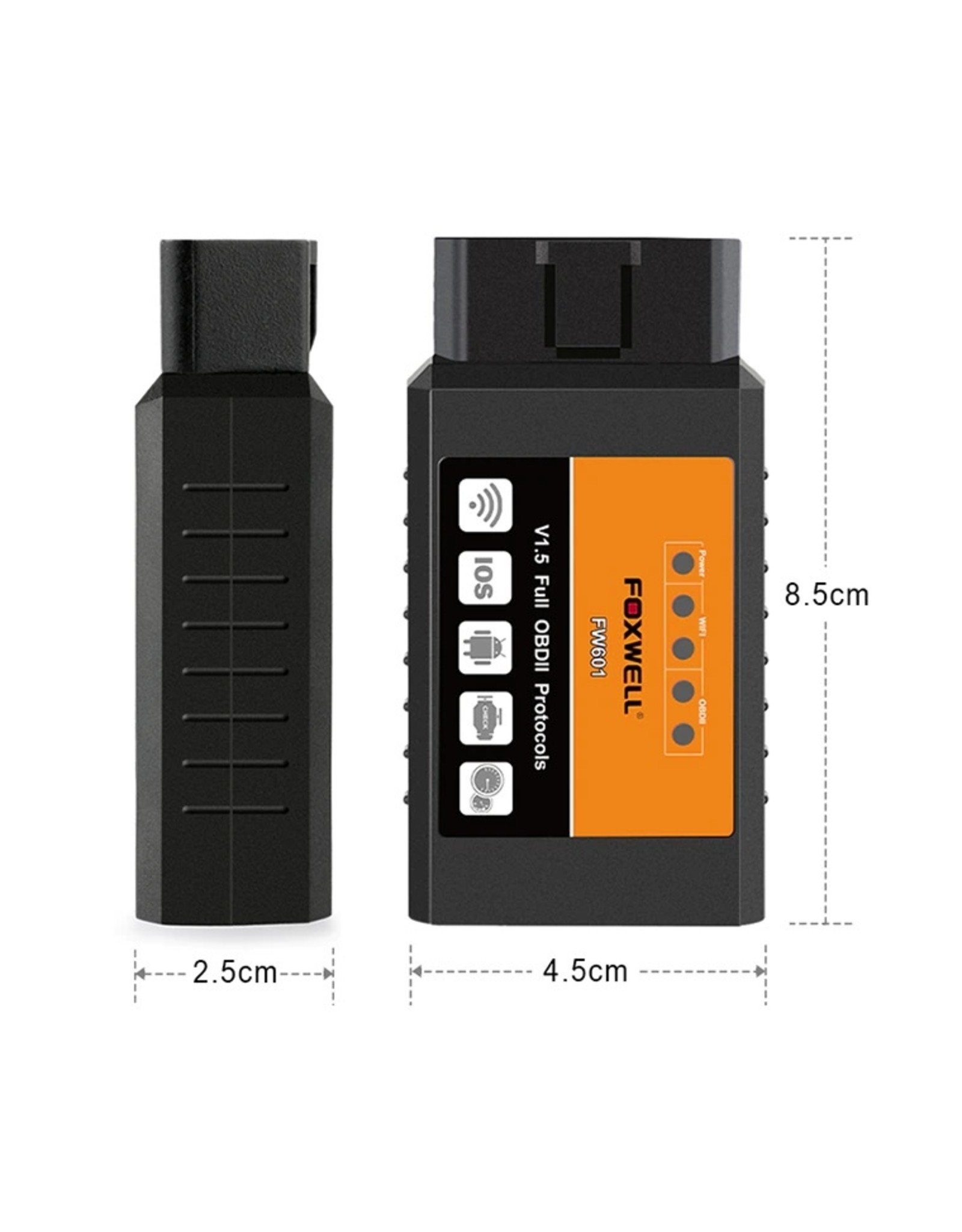 FOXWELL OBD2 WiFi ELM327 V 1.5 Scanner Auto OBDII-scantool voor IOS Android