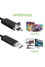 2-in-1 USB HD Visuele Oor Gezondheidszorg Schoonmaak Lepel Tool 5.5mm Multifunctionele Earpick Met Mini Camera endoscoop Voor Android