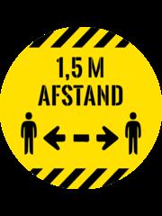 Virupa Vloersticker rond geel '1,5 meter'