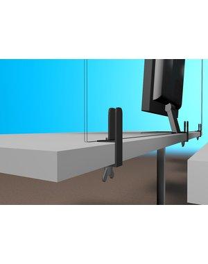 Virupa Set tafelklemmen voor scheidingswand bureau plexiglas op bureau