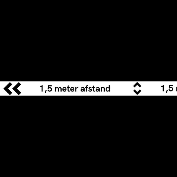Virupa Vloersticker strook wit '1.5 meter'