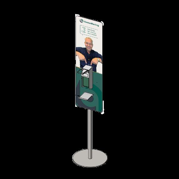 Virupa Hygiëne station compact elleboogdispenser - Eigen ontwerp
