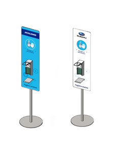 Virupa Hygiëne station compact elleboogdispenser - Met eigen logo