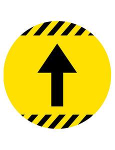 Virupa Vloersticker rond geel pijl