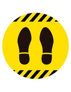 Virupa Vloersticker rond geel voetjes