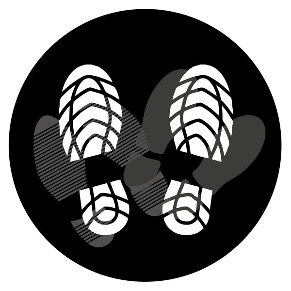 Virupa Vloersticker rond zwart voetjes